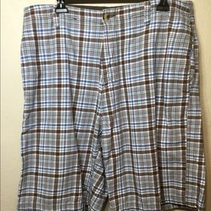 U.S.POLO ASSN. PLAID SHORTS WITH DRAW STRING 36